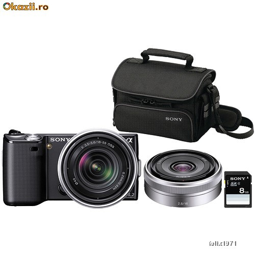 Our competitively priced Sony Alpha NEX 5 photo specialty bundle...